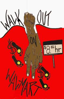 "[           IMAGE: ""Supporting WalMart Strikers - Black Friday."" 2012.           Erin Marie Konsmo]"