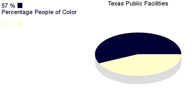 [IMG, PieChart: Texas Public Facilities: 57% People of       Color]
